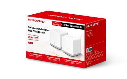 Router Mercusys Sistema Wi-Fi de malla para todo el hogar a 300 Mbps Halo S3 (2-pack)