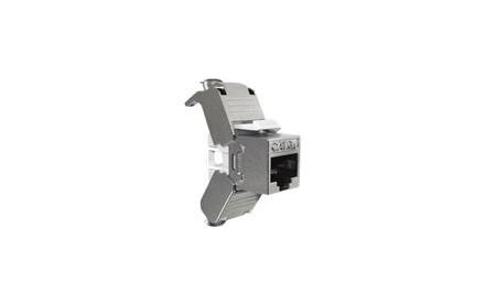 Nexxt - Inserto modular - RJ-45 - plata