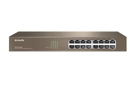 Conmutador Gigabit Ethernet de 16 puertos - Tenda - TEG1016D