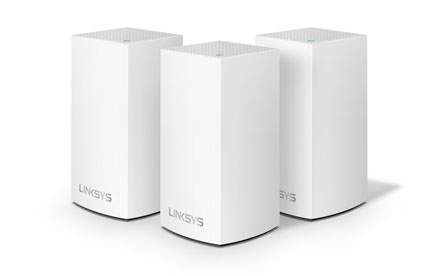 Sistema Velop WiFi Intelligent Mesh de doble banda de Linksys 3-Pack - WHW0103