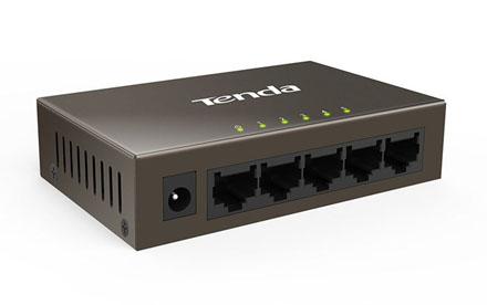 Conmutador Fast Ethernet de 5 puertos de 100 Mbps - Tenda - TEF1005D
