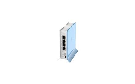 MikroTik RouterBOARD hAP lite - Enrutador inalámbrico - conmutador de 4 puertos