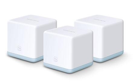 Router Mercusys con Sistema de Red Wi-Fi en Malla Halo S12, 1167Mbit/s, 2.4 - 5GHz, Antena Interna - 3 Piezas