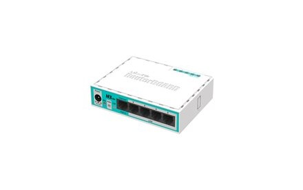 MikroTik RouterBOARD hEX lite RB750r2 - Router - conmutador de 4 puertos