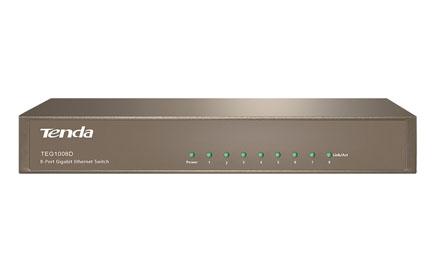 Conmutador Gigabit de sobremesa de 8 puertos - Tenda - TEG1008D